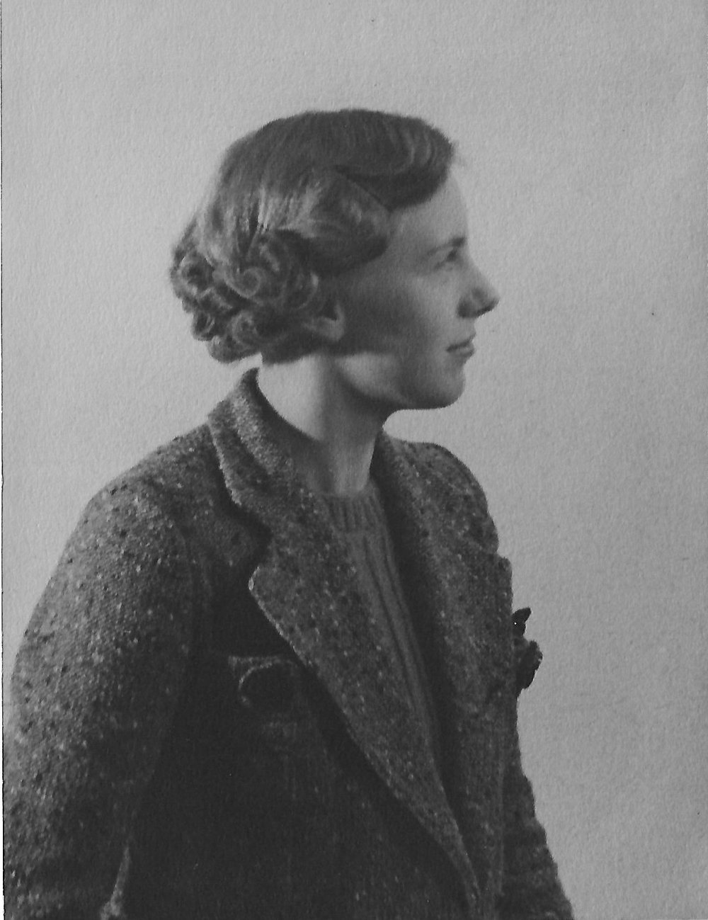 A photograph of Betty taken in December 1936