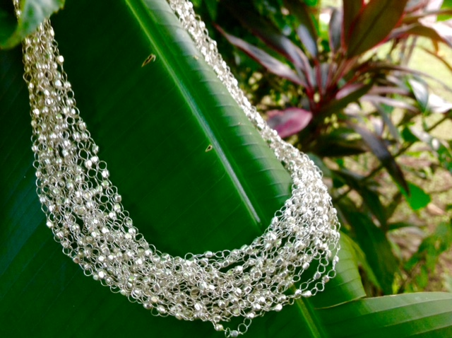 feines Silbercollier 45€  silver necklace