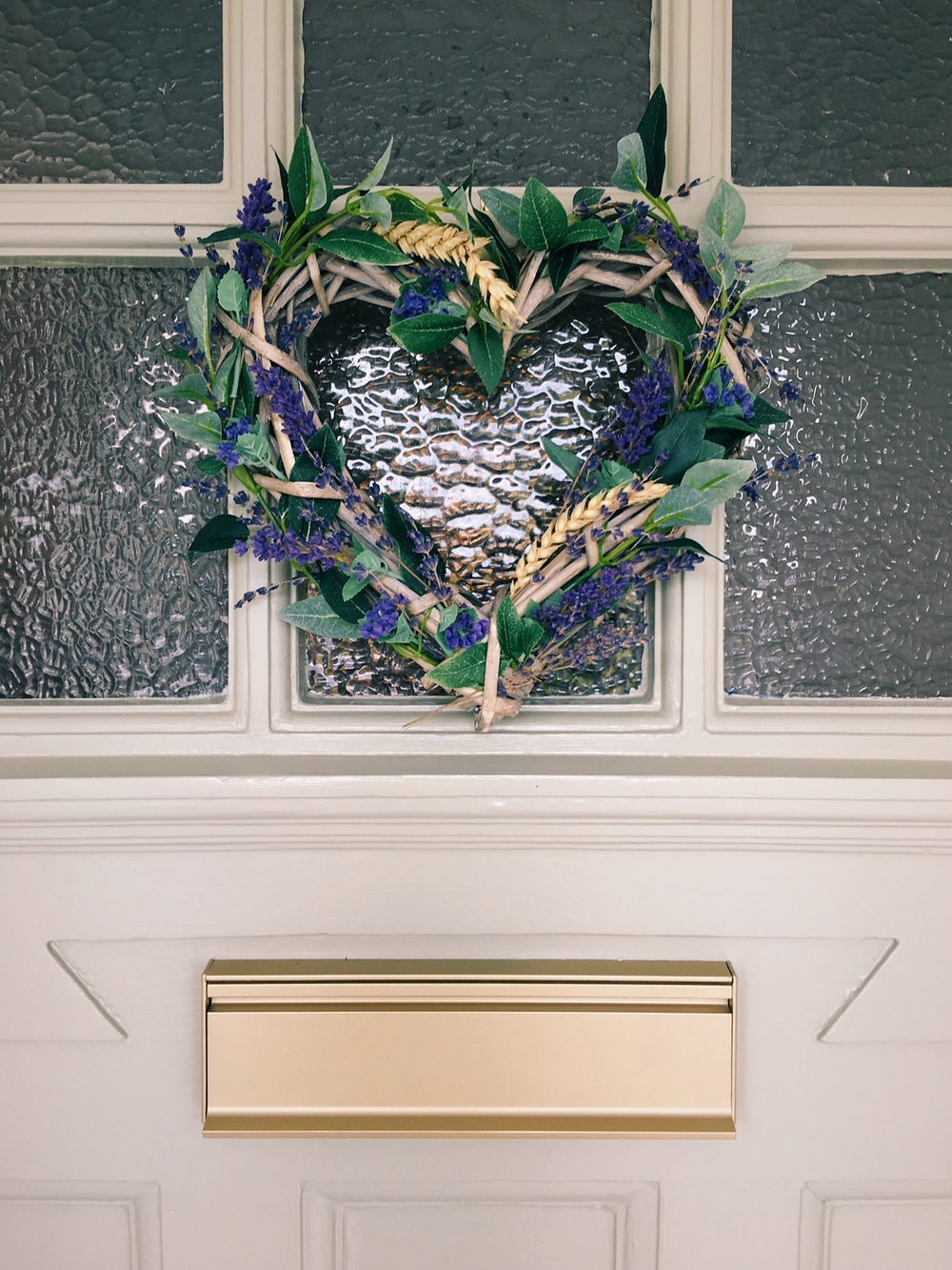 lavender wreath on door