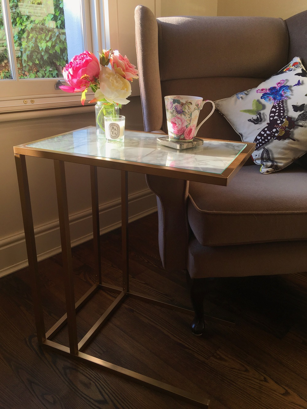 Create This Gold Amp Marble Side Table With This Easy Ikea