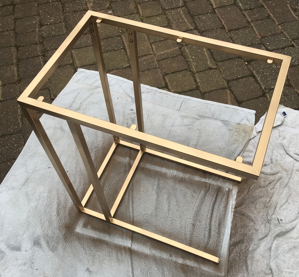 Create This Gold & Marble Side Table With This Easy Ikea