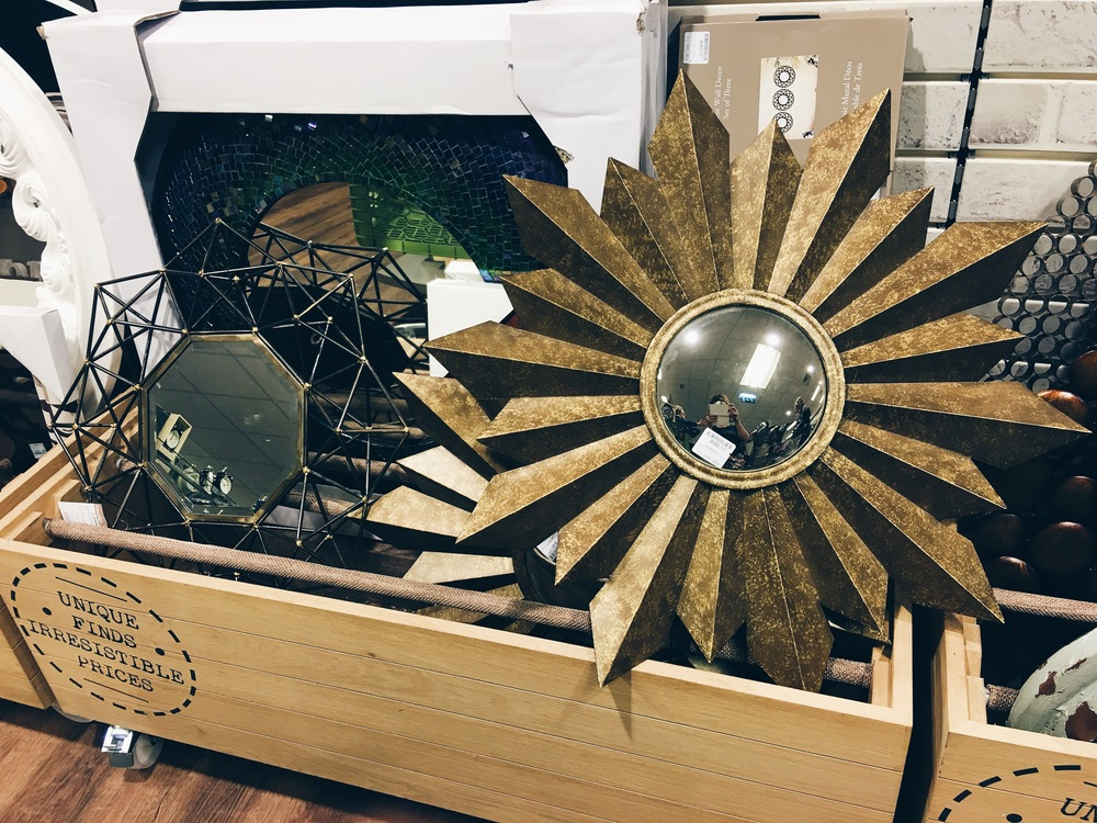 This large sunburst-style mirror is currently available in Homesense for £29.99