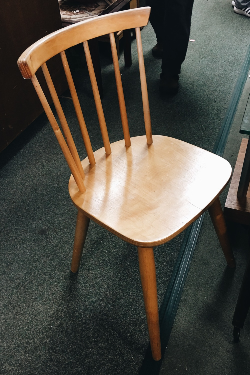 Four of these strong and sturdy ,Ercol-style wooden chairs were £10 each at Ecco last weekend.