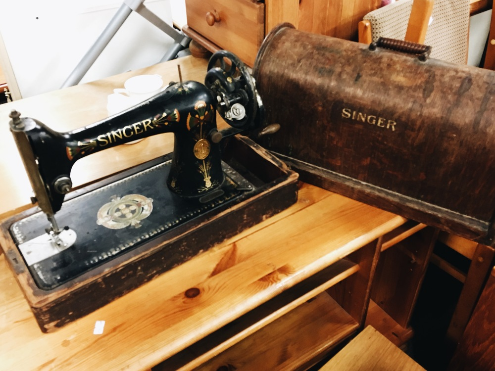 If you have space to display interesting items in your home, then you could find some real treasures for cheap, like this Singer sewing machine.
