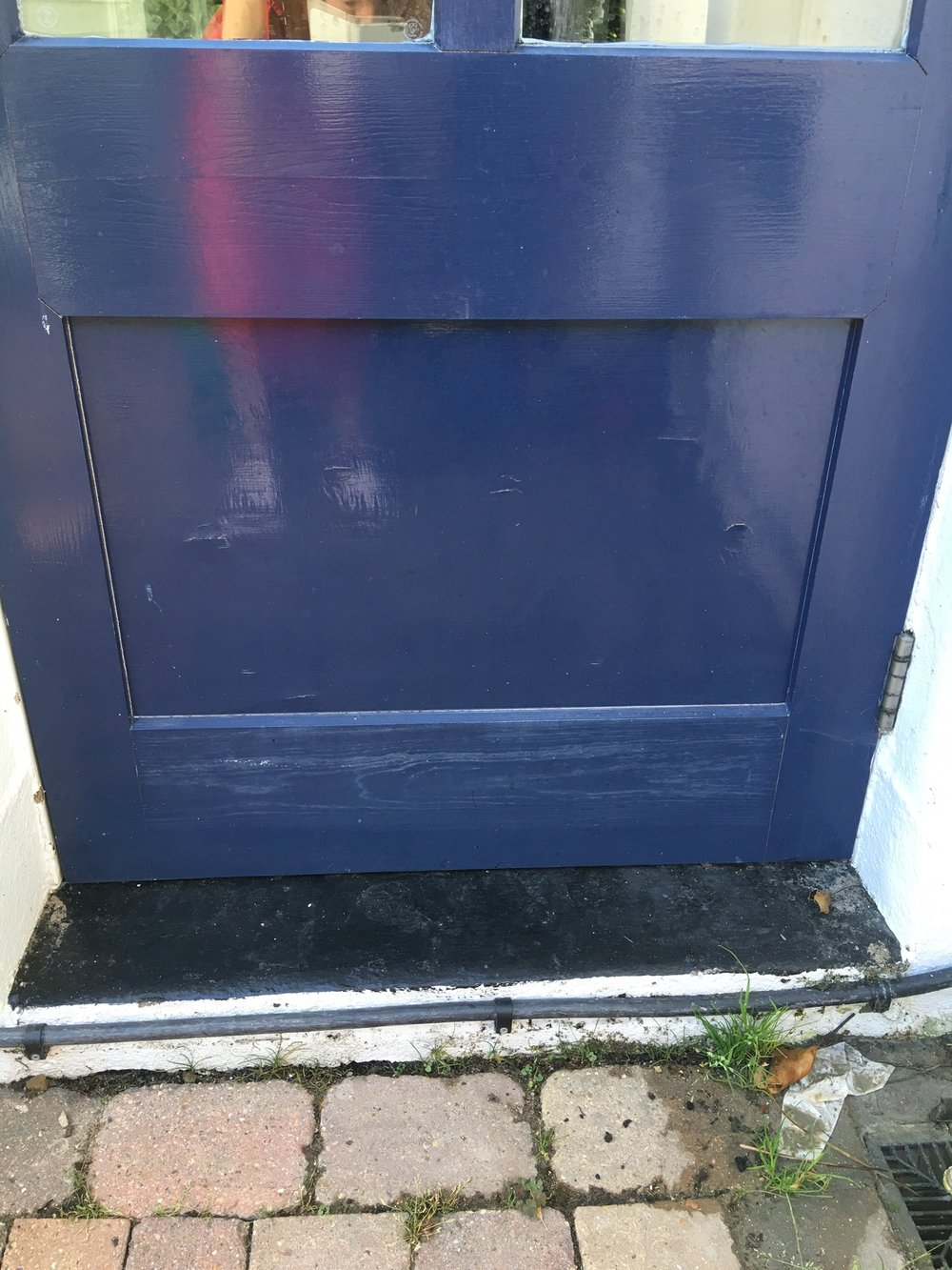 The 'before' back door, which was fine, but a bit tired and boring.