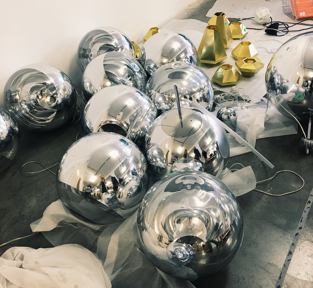 The large Mirror Ball Pendant Lights were £100 each rather than £440. Cell Pendants were £30-£50 rather than £275.