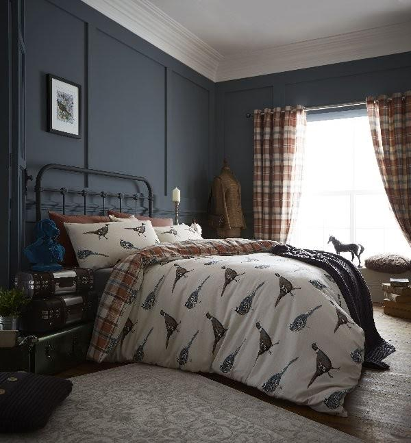 Heritage Country Birds duvet cover set by the Yorkshire Linen Co.