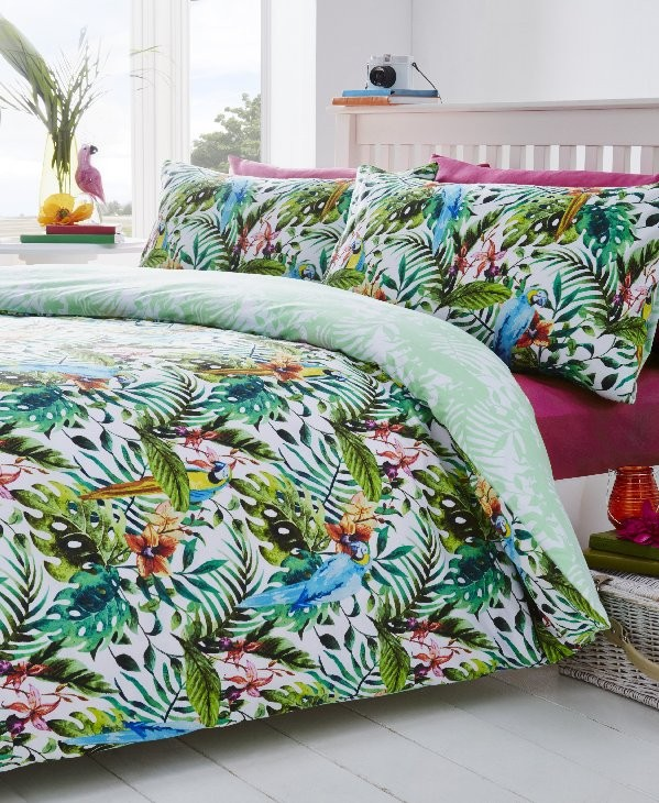 Tropical duvet cover set by The Yorkshire Linen Co.