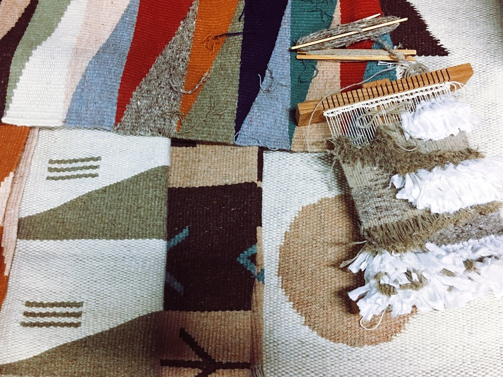 Hand woven rugs and textiles by  Christabel Balfour
