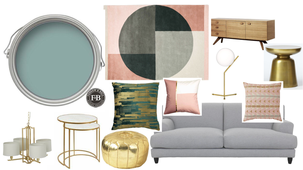 This year the living room will be blue and blush!