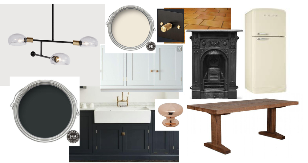 I'm swapping our country kitchen for a more sleek industrial look this year.
