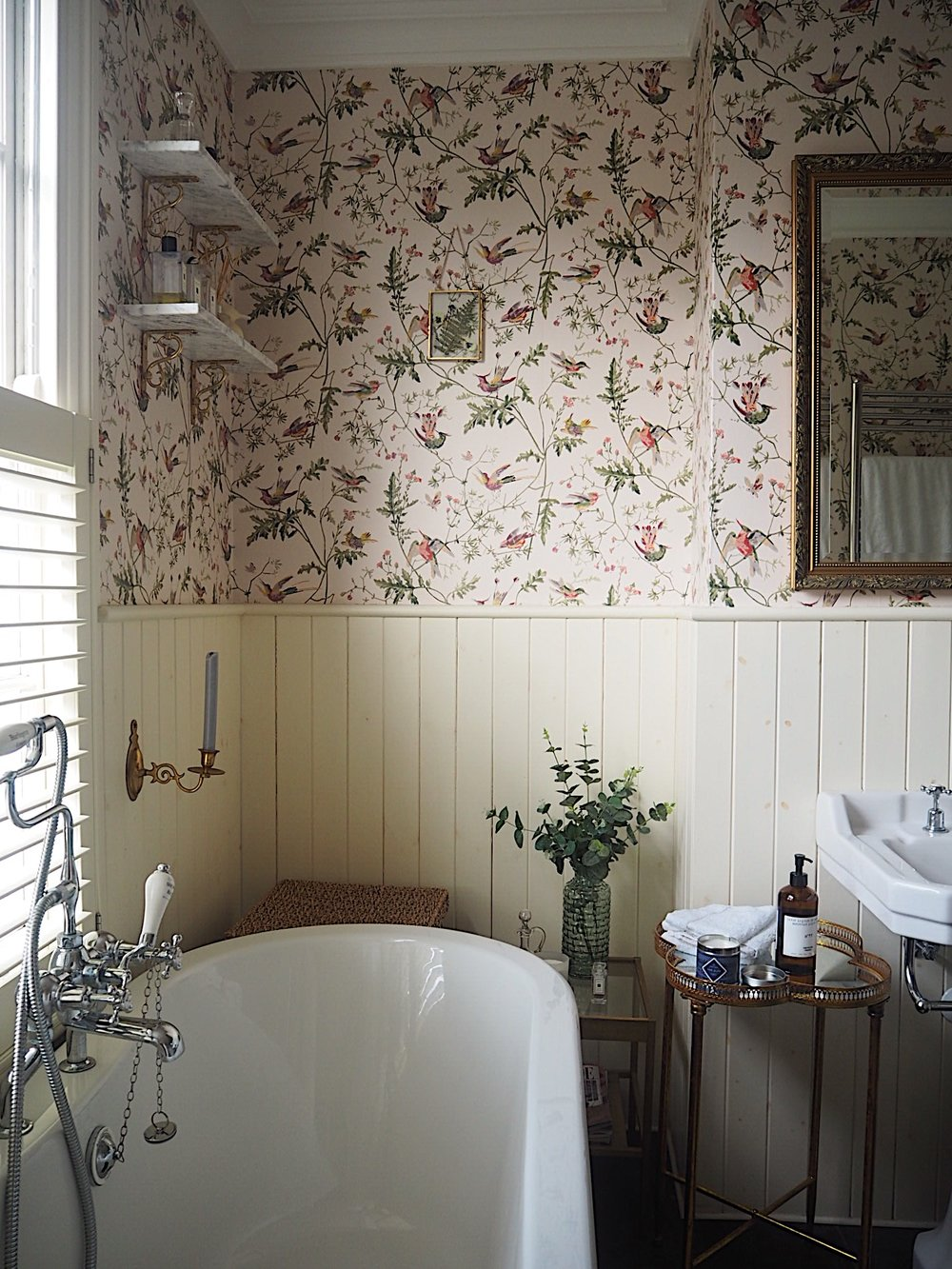 Mini Bathroom Makeover: Using Wallpaper In The Bathroom