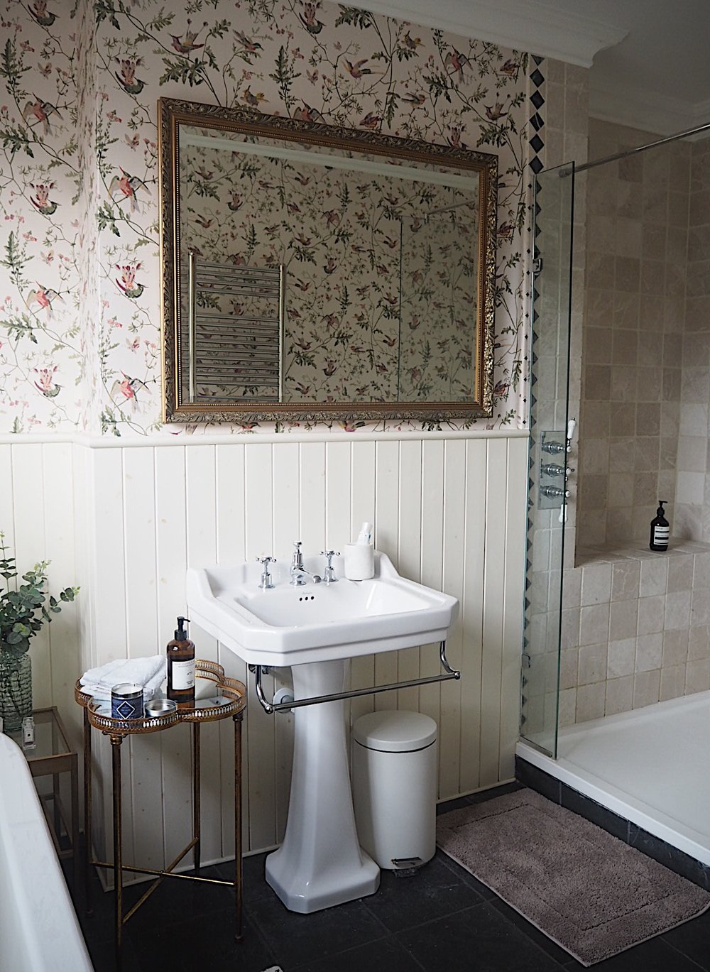 I d always previously thought that if you hang wallpaper in the bathroom it  had to be made of vinyl as condensation   paper   disastrous peeling  wallpaper. Mini Bathroom Makeover  Using Wallpaper In The Bathroom   MELANIE