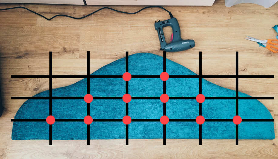 Work in a grid pattern when measuring where to place your buttons. Each button should be the exact same distance apart.