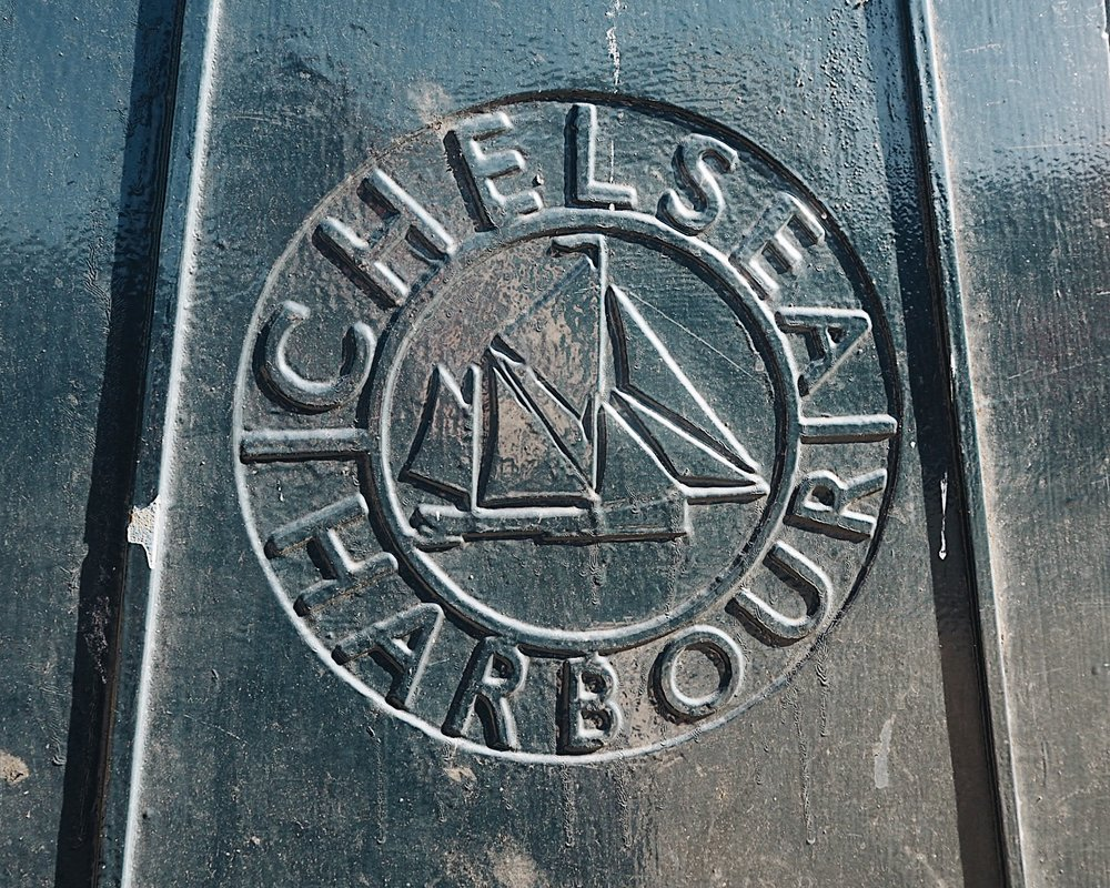 The large street lamps outside Chelsea Harbour have this beautiful stamp on them.