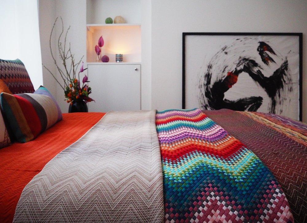 Missoni textiles are available via Blue Ribbon