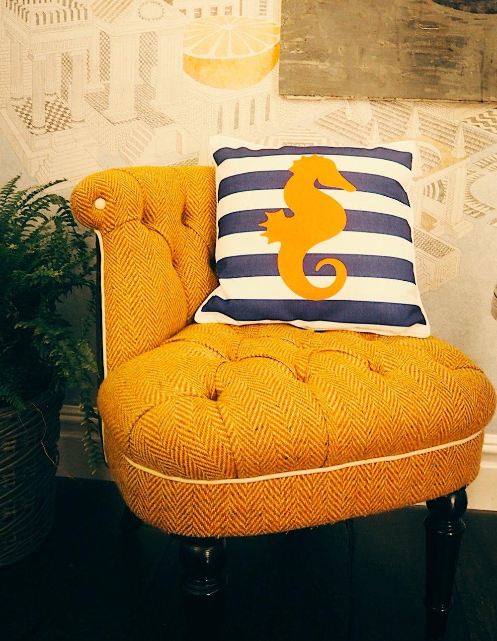 This cute seahorse cushion is the Lorraine Kelpie cushion for JD Willams