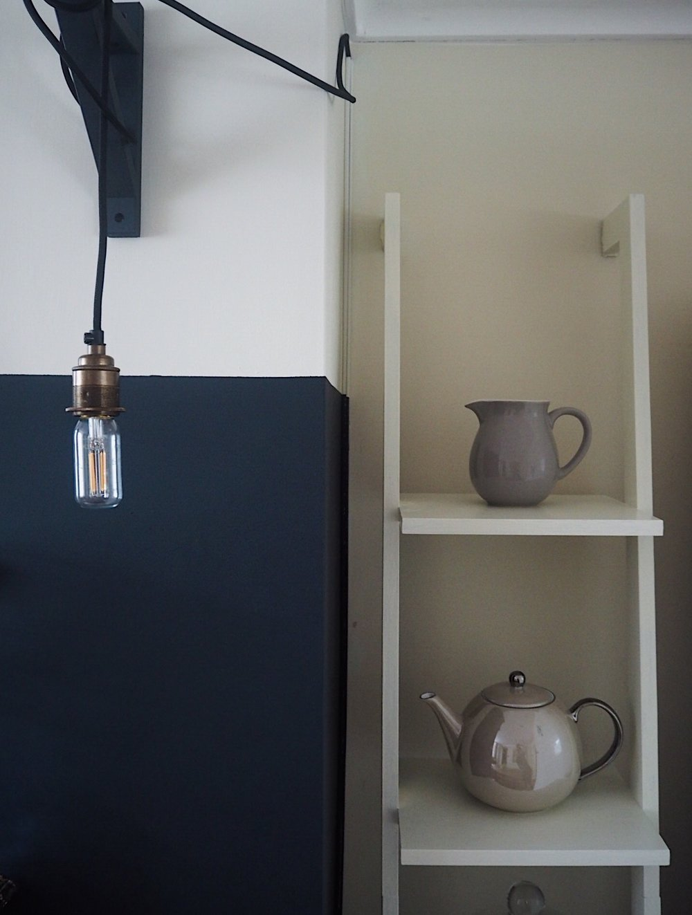 This plug-in hanging pendant light is by Urban Cottage Industries. Scroll down to purchase.
