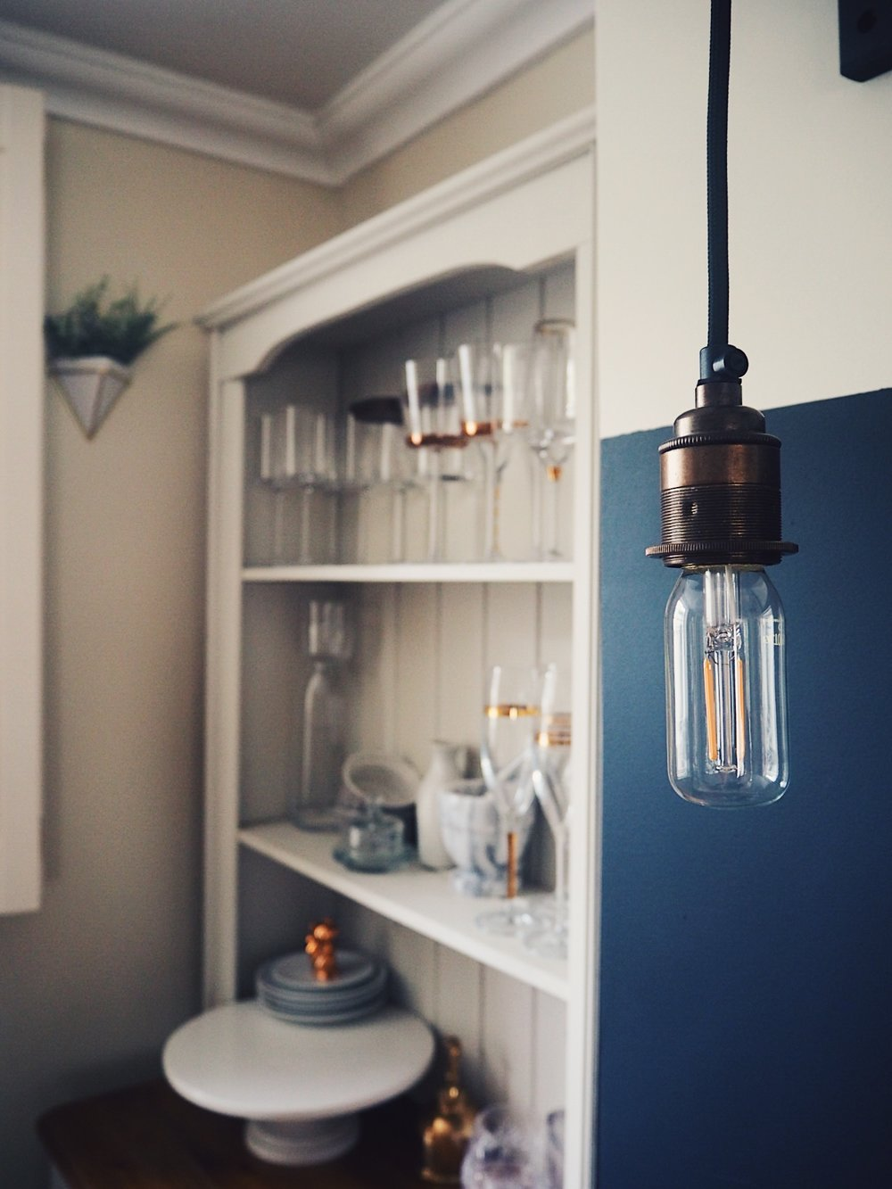 My custom-made drop pendant light by Urban Cottage Industries