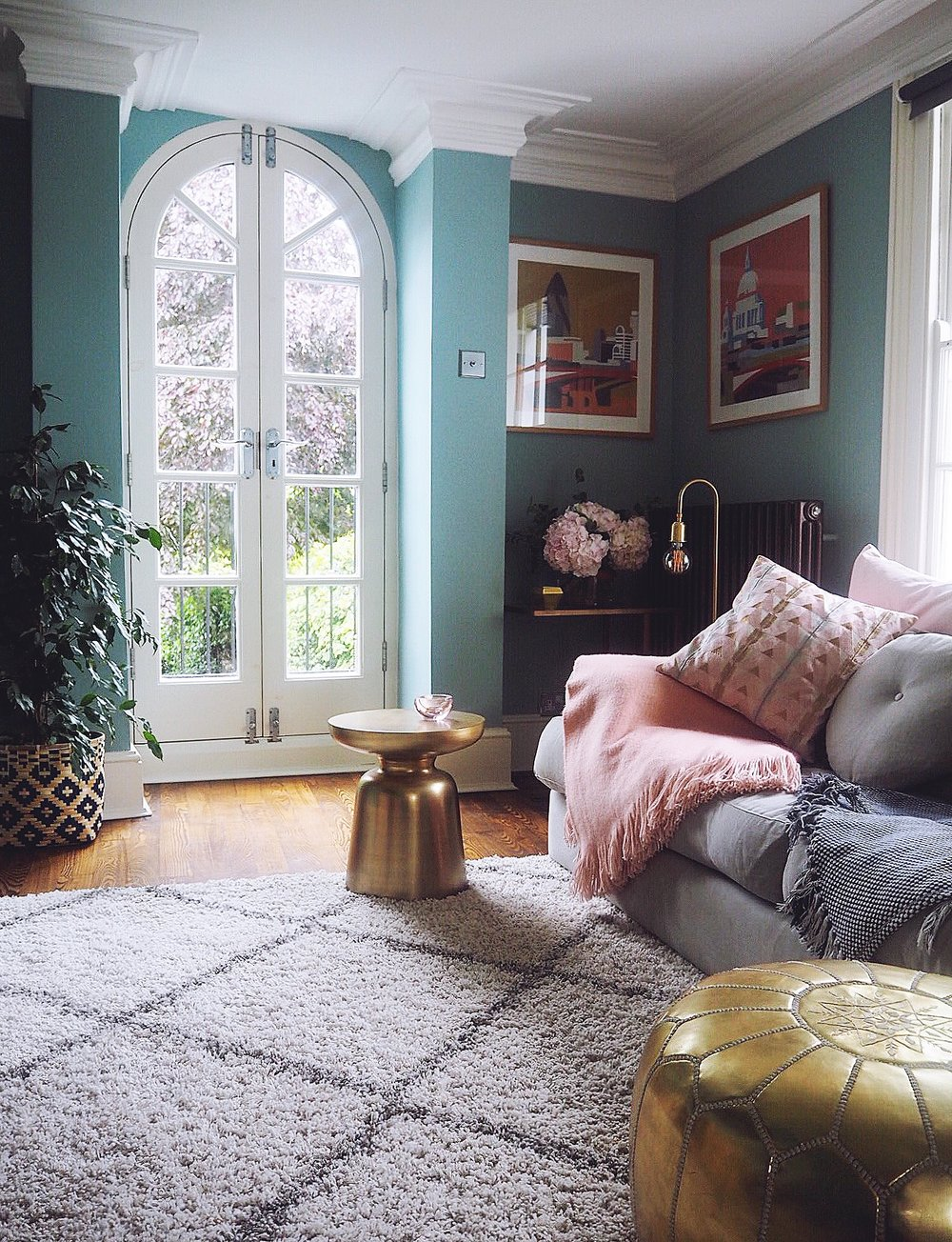 Before & After: Decorating My Living Room Blue — MELANIE LISSACK ...