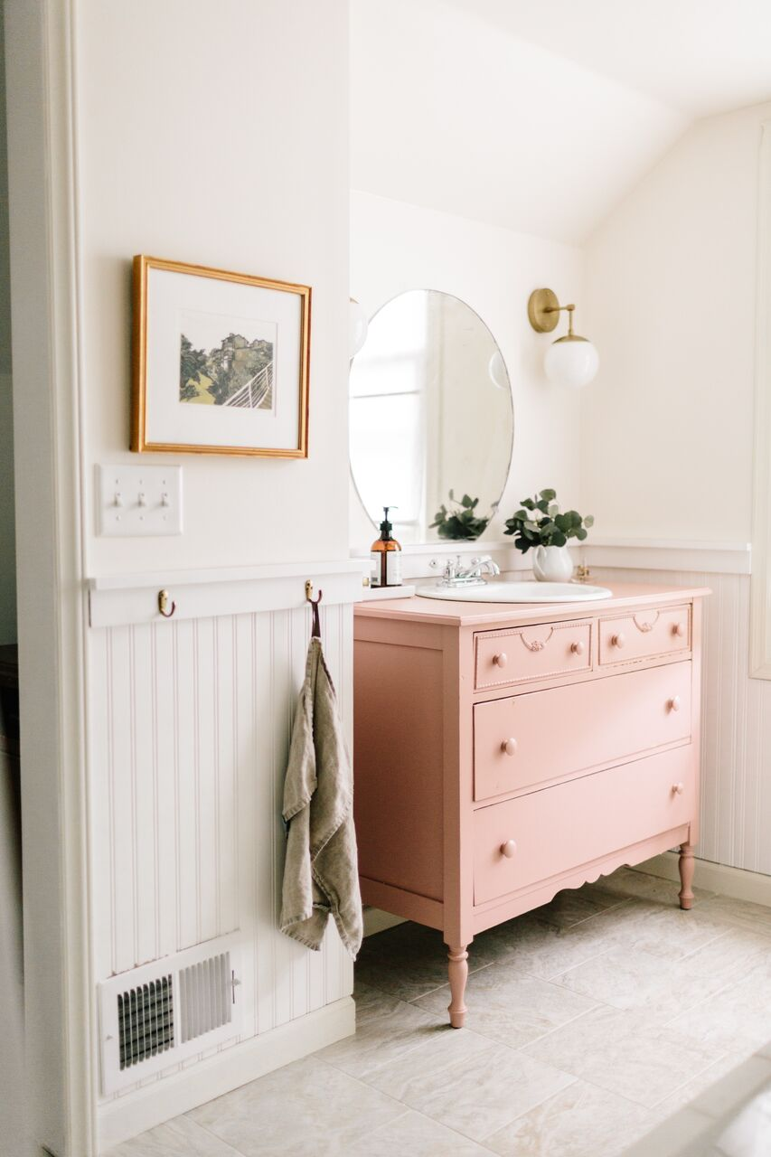Save Money And Add Character In Your Bathroom By Using Vintage Furniture As A Basin Stand Melanie Lissack Interiors