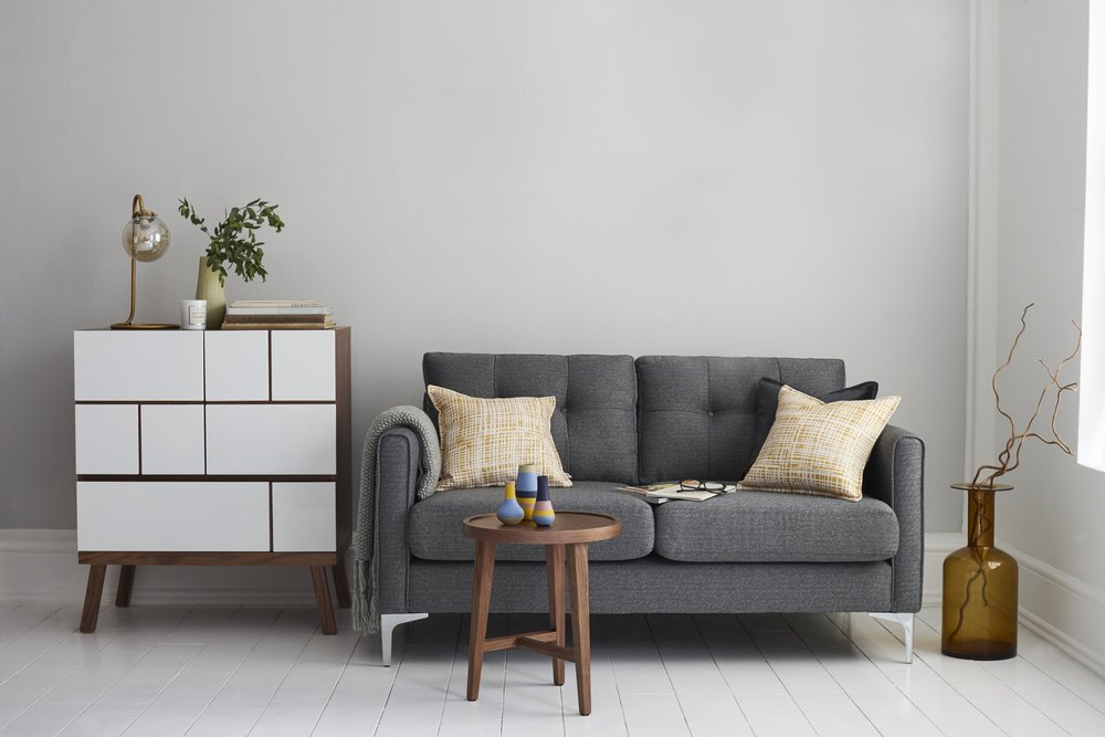 'Bask'    sofa in charcoal, £499, DFS. Photo: © DFS