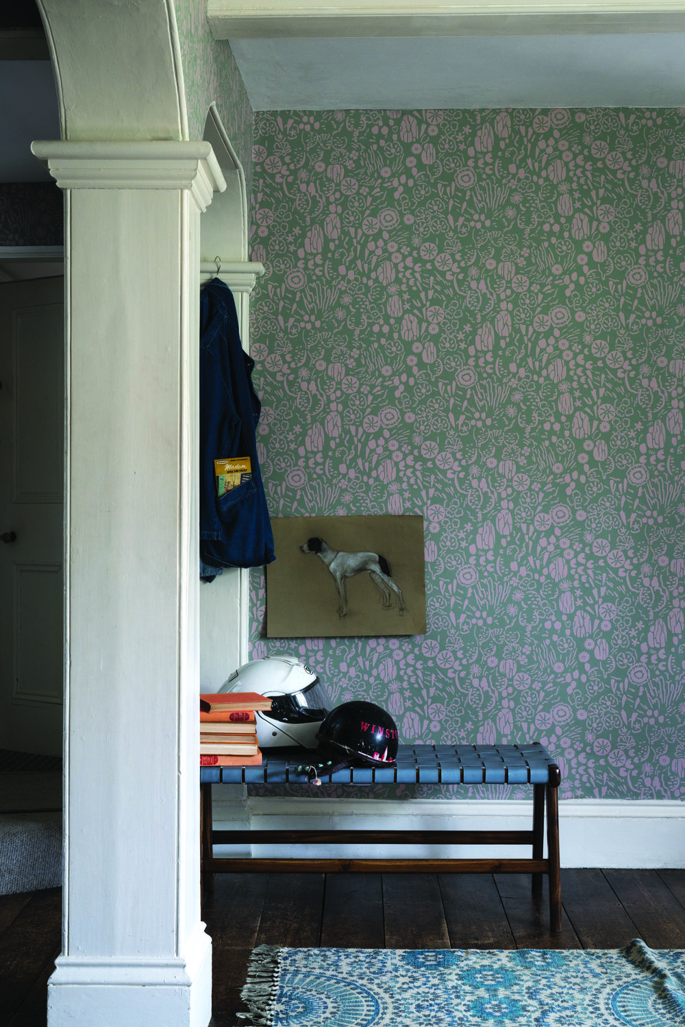 BP 5802   , Wallpaper: Atacama BP 5802  , Ceiling: Wimborne White® No.239 Estate® Emulsion  , Woodwork: Wimborne White® No.239 Estate® Eggshell