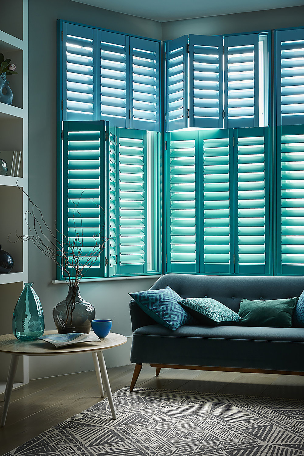 Shutterly Fabulous offer a colour matching service which means you can match the colour of your shutters to your sofa!