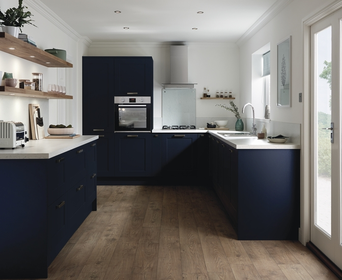 Buy pre-primed kitchen units ready to paint in any colour you wish with the Burford paintable range from Howdens