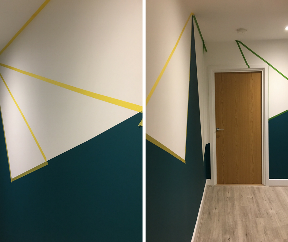 geometric paint effect