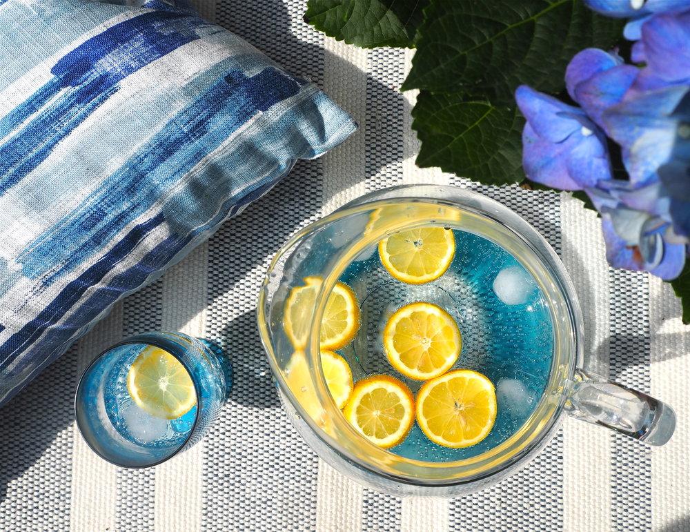 marks & spencer blue melamine jug