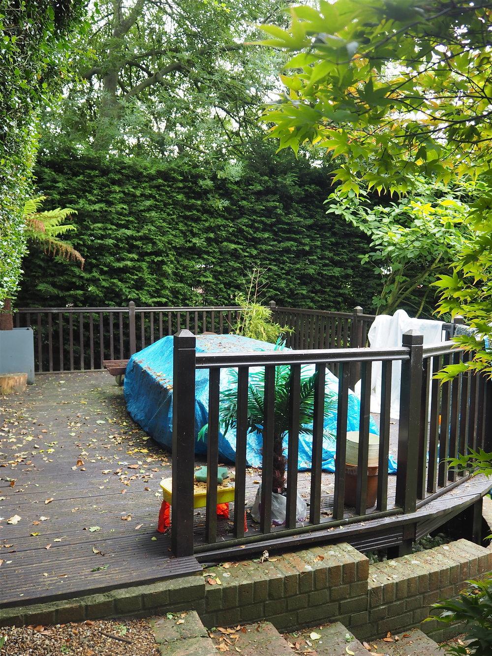 deck in garden