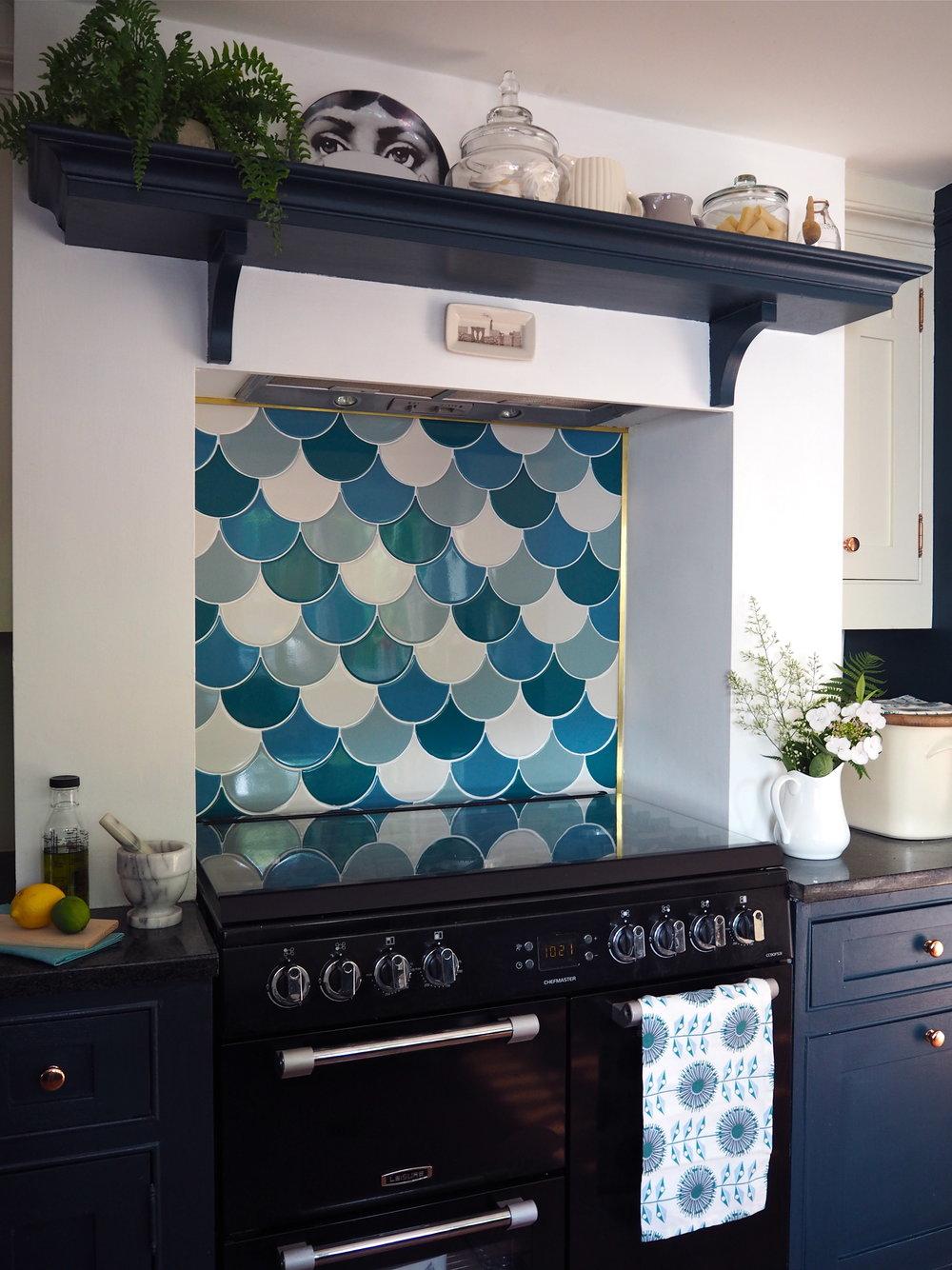 DIY Kitchen Splashback With The Syren Tiles by Topps Tiles — MELANIE ...