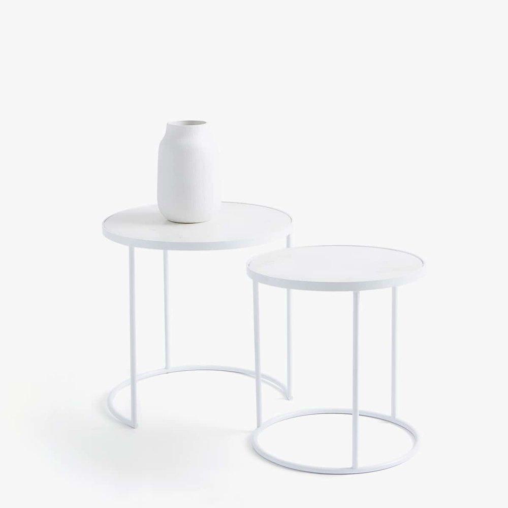 Marble & white tables set    - £199.99