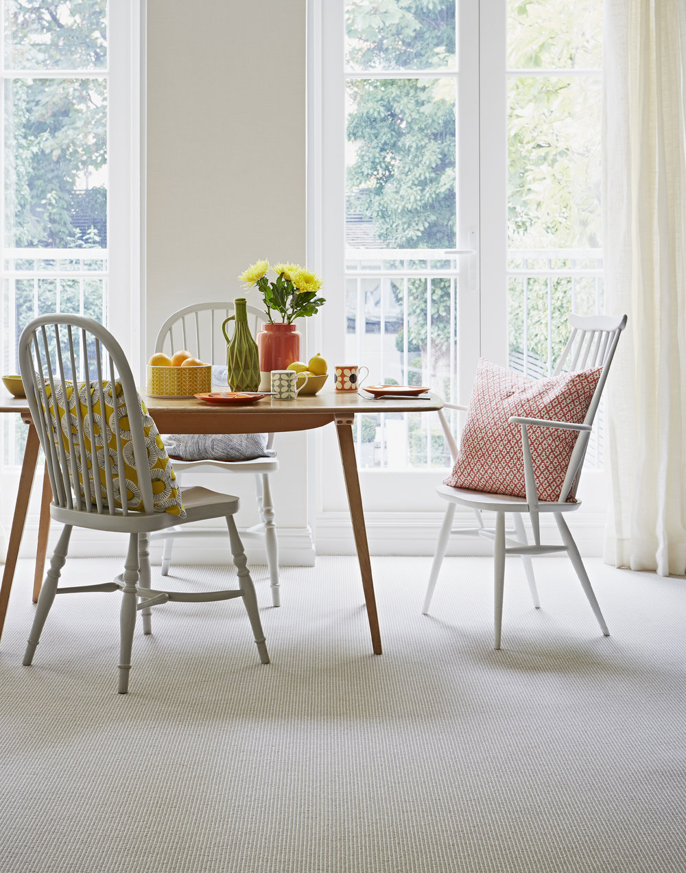 Pampas Nordic Stripe wool carpet by Kersaint Cobb
