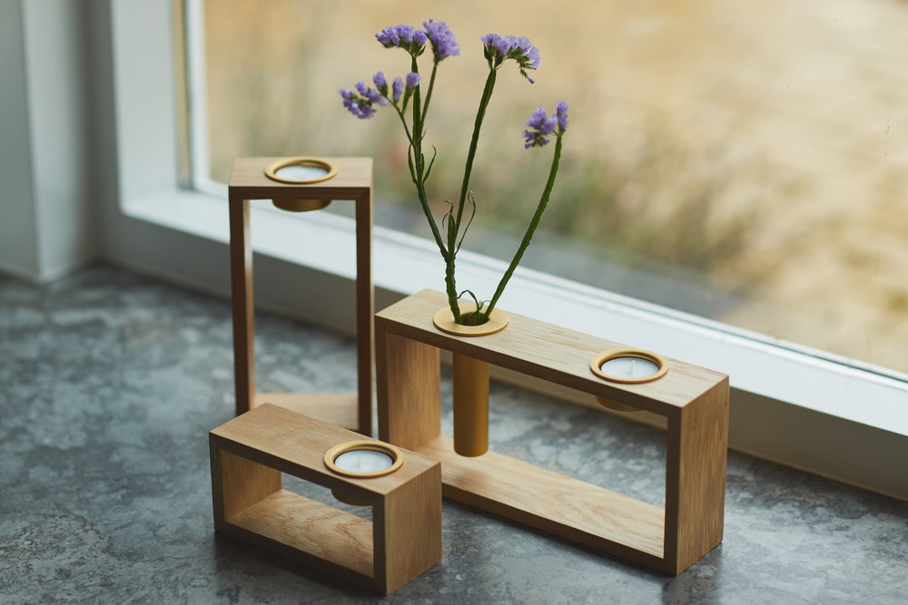 'Compose' tealight & stem vase holder by Umage