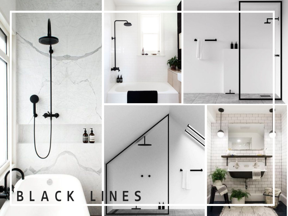 black lines in bathrooms
