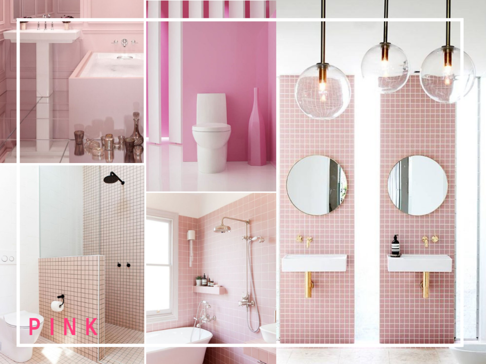 pink bathroom design