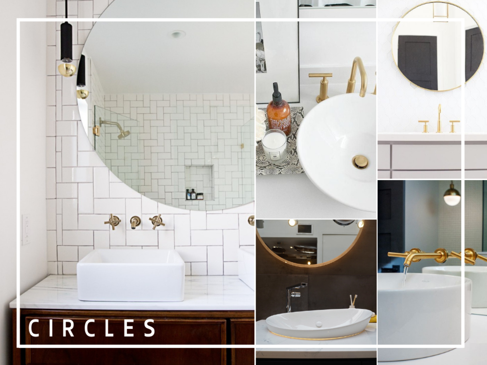 circular shapes in the bathroom