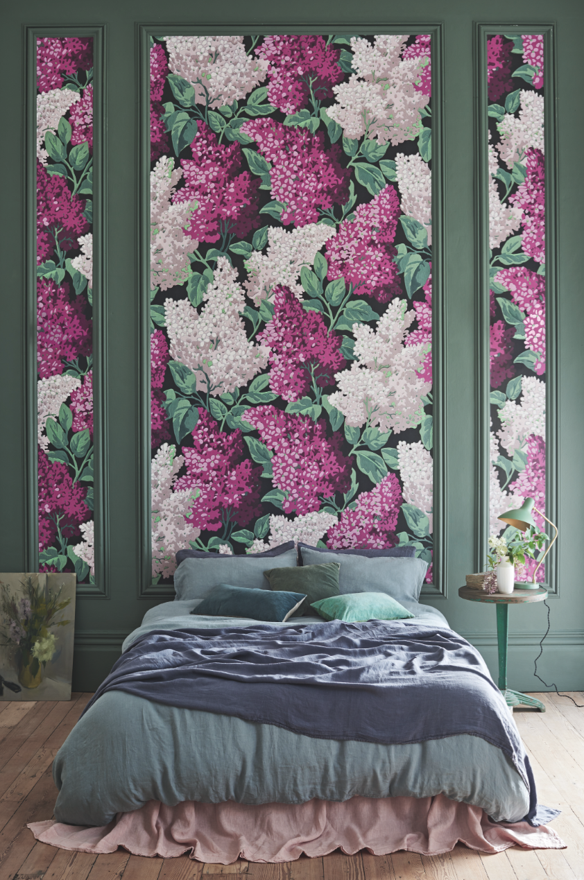 Botanical ~Botanica~, Lilac Grandiflora ~Syringa vulgaris~ 115/15045 £600 per 2 roll set by Cole & Son