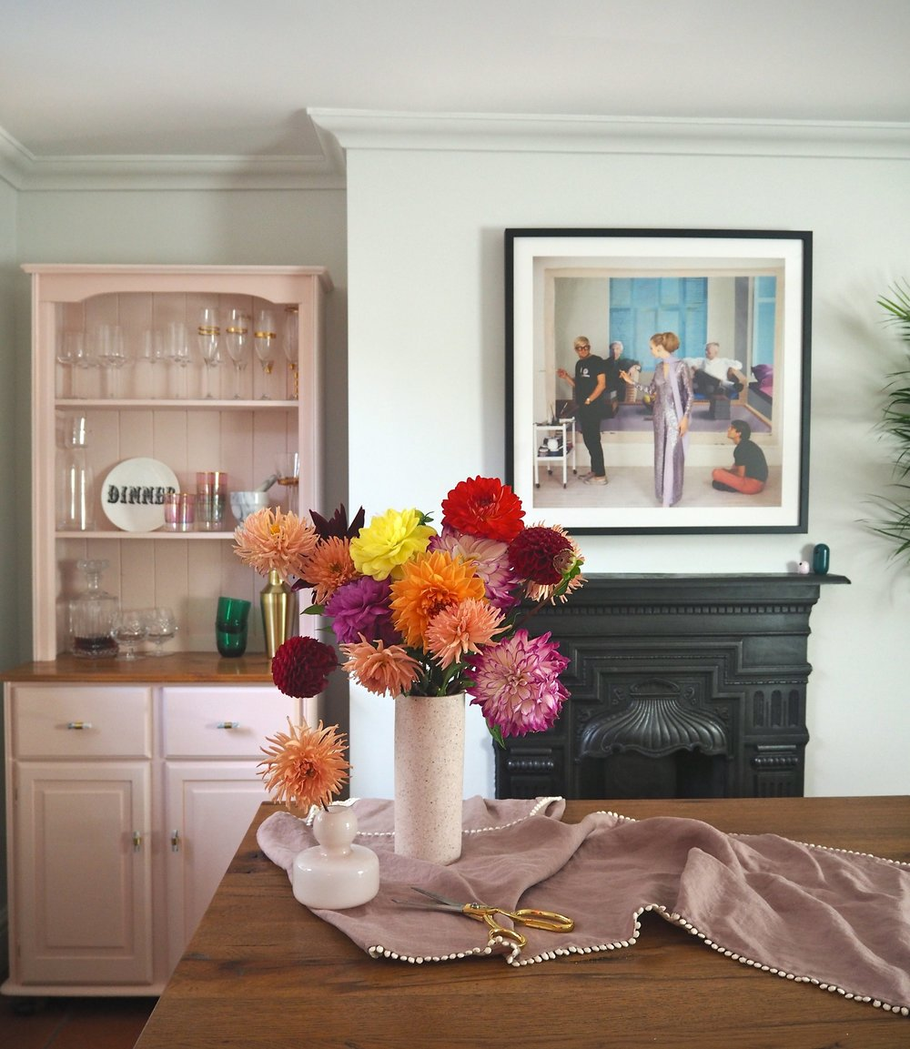 sanderson paint in the dining room