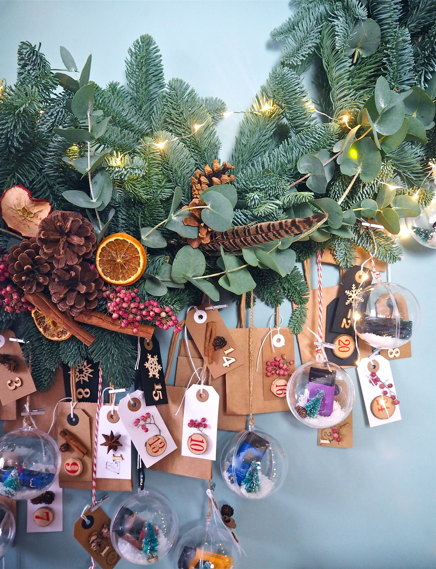 DIY Advent Calendar Indoor Wreath — MELANIE LISSACK INTERIORS