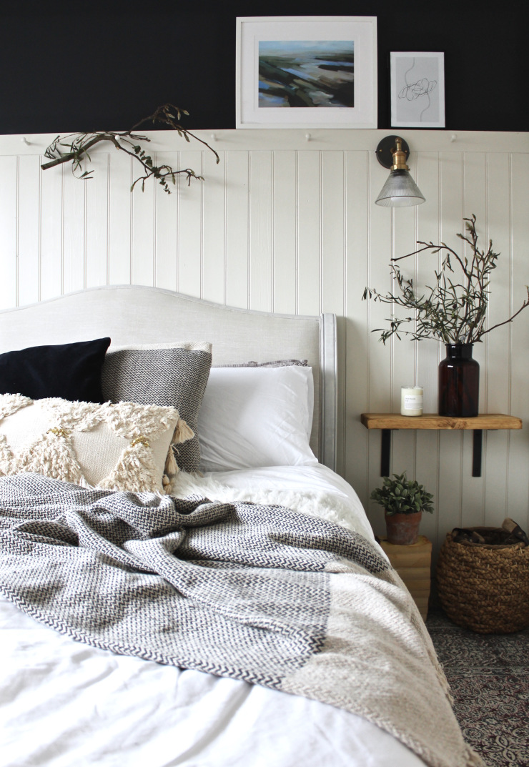 'School House White' used in the master bedroom by    The Indigo House