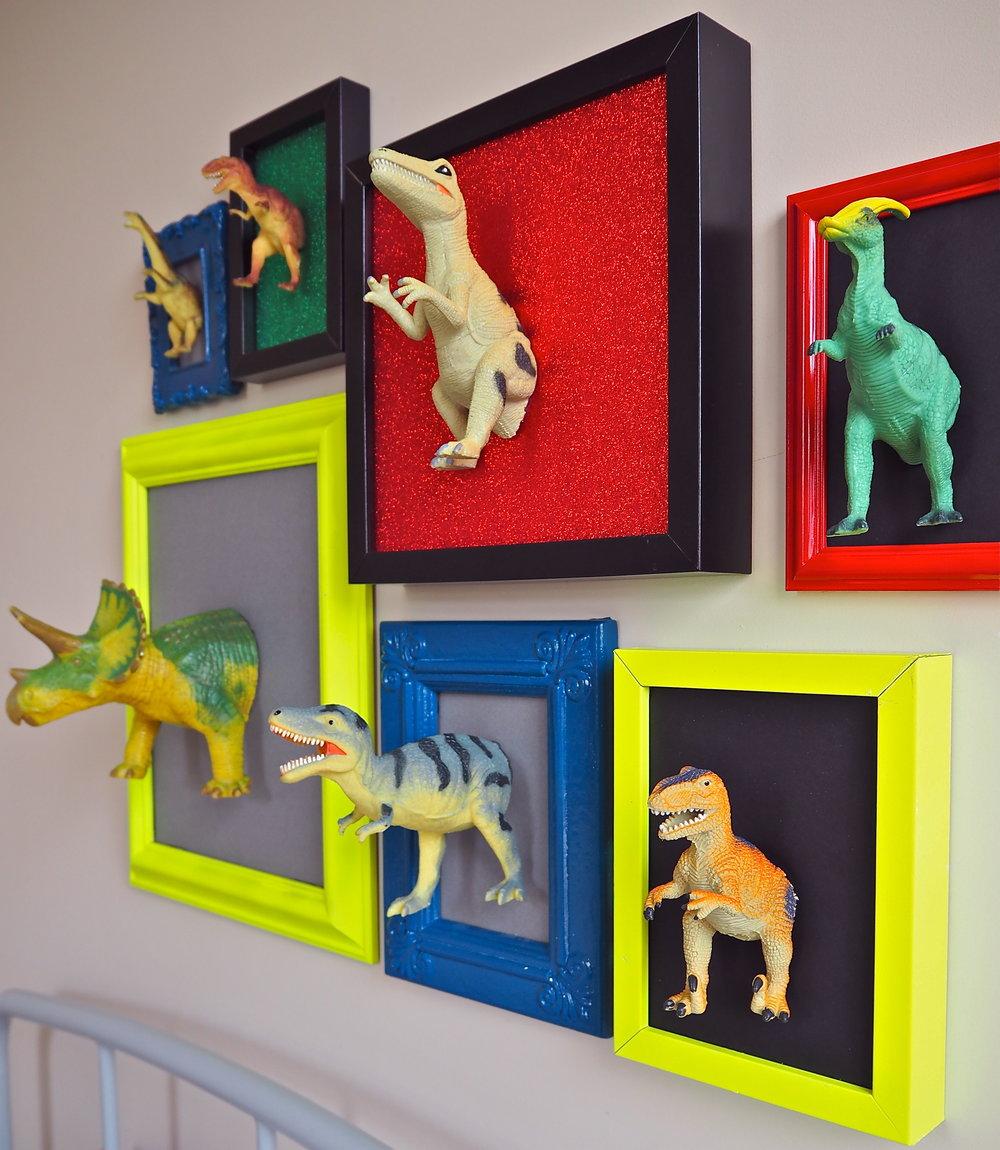 3d dinosaur art with gorilla glue