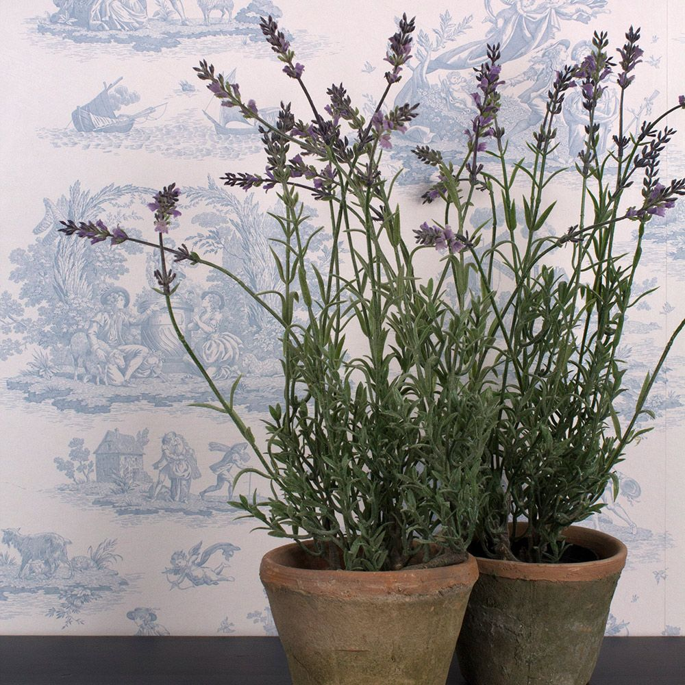 Faux Lavender In A Pot