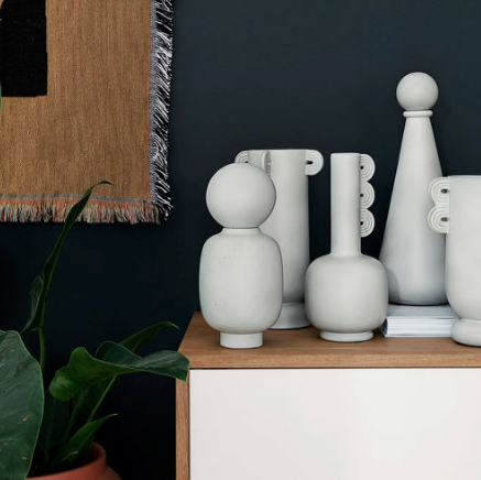 Scandi Splurge - Feel like spending a bit more money on some new home accessories? Then these new Muse vases from Ferm Living are a wise investment. Completely on trend with their curves and circles, the stony-white colour would work well against most wall-colour backdrops.Muse Vases, From £75, Ferm Living Available via Amara.