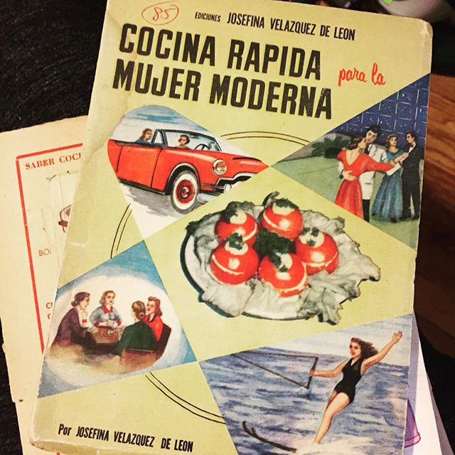 Just some light reading, from Josefina Velázquez de León. #vintagecookbooks