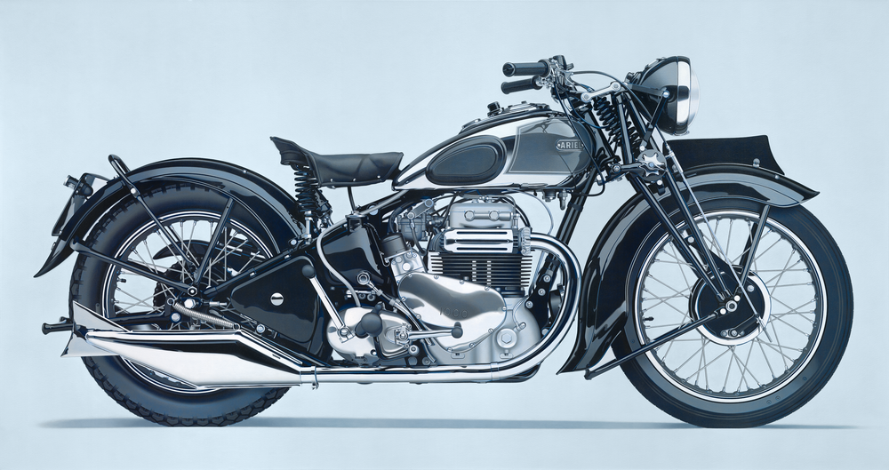 "William Fisk, Motorcycle Painting No. 4, Oil on canvas, 65"" x 120"", 2013"