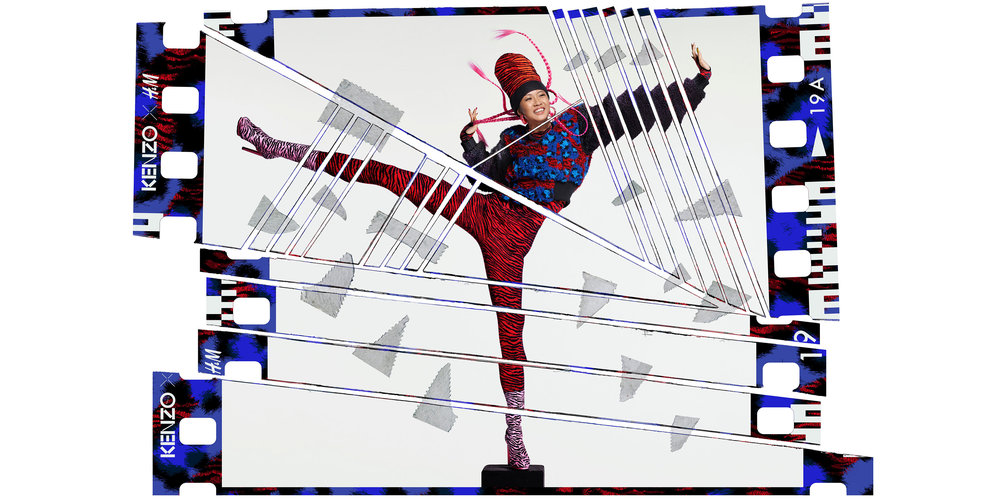 Suboi in the KENZO x H&M campaign images by the iconic fashion and music image maker Jean-Paul Goude.