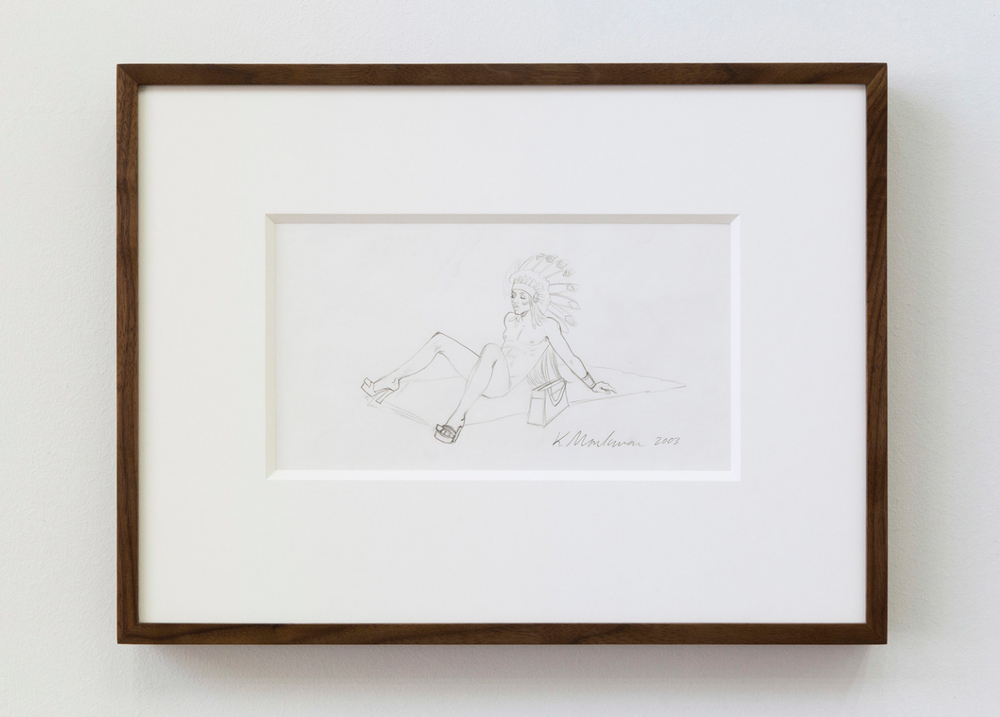 From Geoff's collection: Kent Monkman, Study for Rebellion (Miss Chief), graphite on acid free paper, 2003 (Image courtesy of Geoff Plant-Richmond)